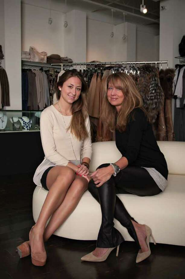 Will Hardin LIKE MOTHER, LIKE DAUGHTER: Katie Lucia, left, and Denise Lucia at their Katia Boutique. Photo: Will Hardin