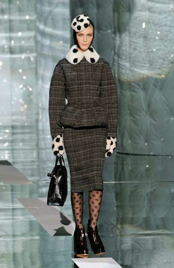 Marc Jacobs playfully pops polka dots in unexpected places for fall. Photo: STAN HONDA / AFP
