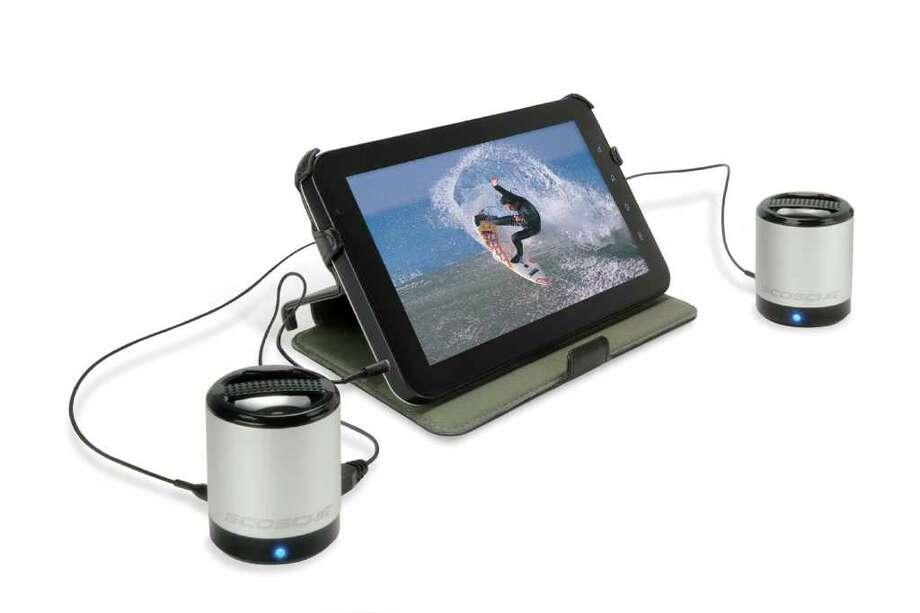 Scosche boomCAN speakers deliver huge volume from your MP3 player. Photo: Scosche / Scosche