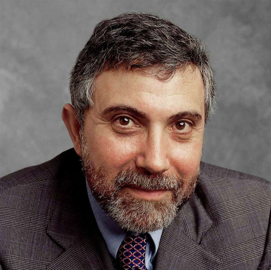 New York Times columnist, Paul Krugman.  HOUCHRON CAPTION (11/21/2003):  Professor and columnist Paul Krugman contends that the nation's distribution of income is way out of whack. Photo: Unknown / handout