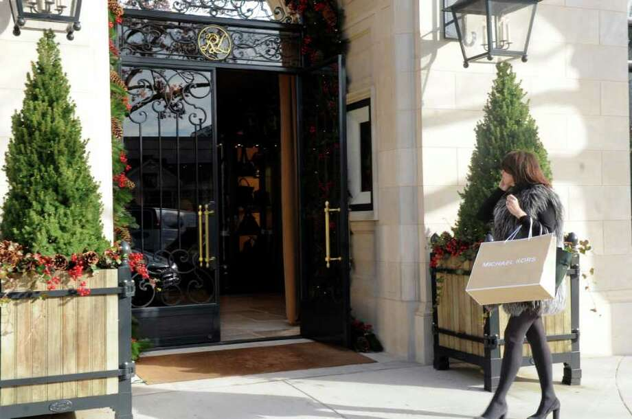 Ralph Lauren one of the high-end holiday gifts stores on Greenwich Avenue in Greenwich Monday, Nov. 21, 2011. Photo: Helen Neafsey / Greenwich Time