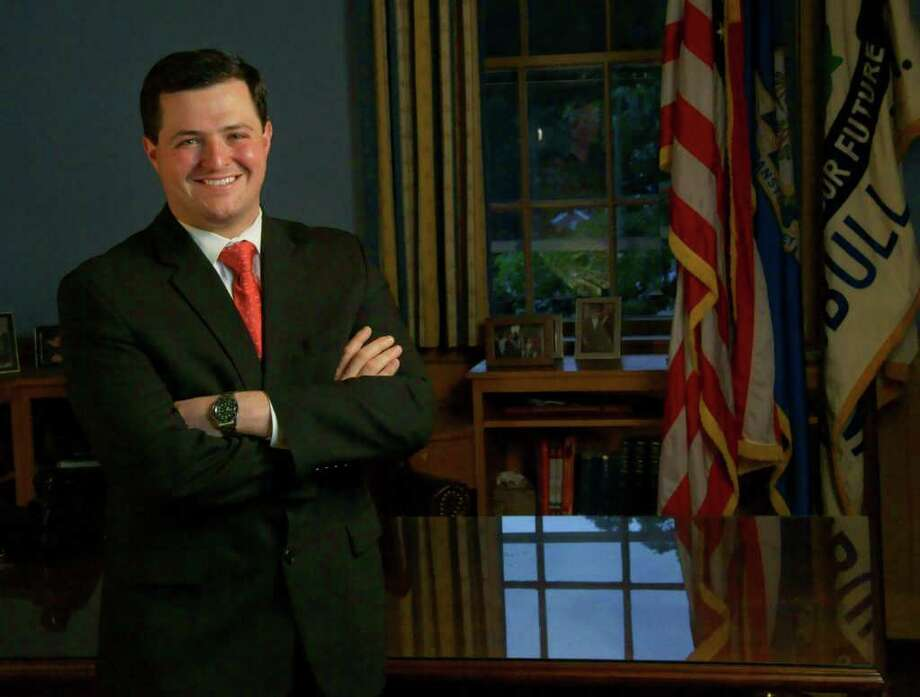 Near the top of the list of Trumbull First Selectman Tim Herbst's goals for his second term is hiring a new economic development director, which will now be a staff position. Photo: Contributed Photo / Connecticut Post Contributed