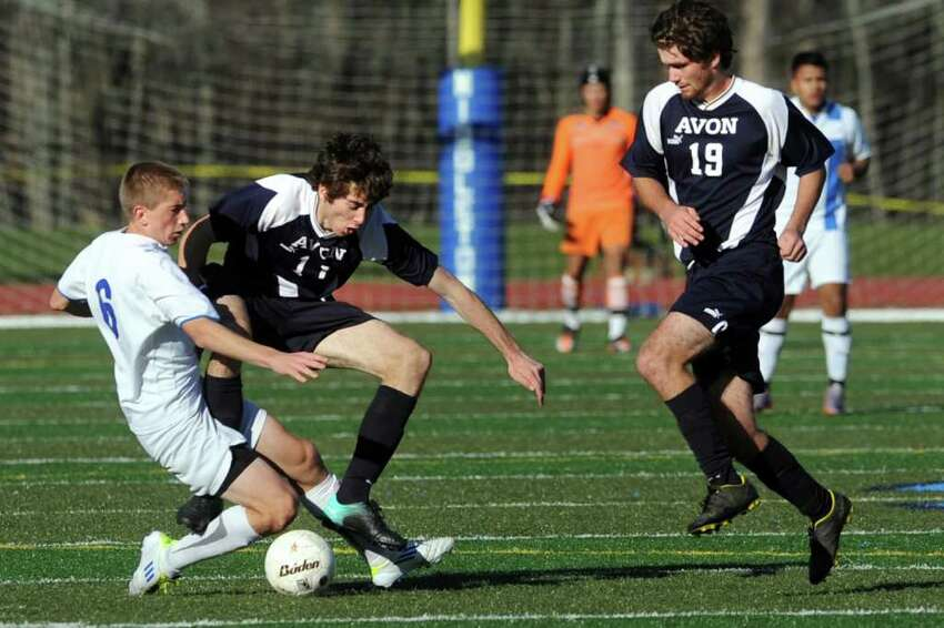 Bunnell's Kyle Burke in action during the Class L boys state championship game, in Middletown, Conn. Nov. 26th, 2011. Bunnell defeated Avon 3-0.