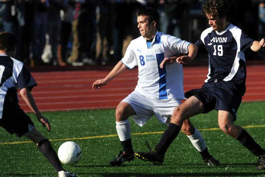 Bunnell's James Gillespie during the Class L boys state championship game, in Middletown, Conn. Nov. 26th, 2011. Bunnell defeated Avon 3-0.