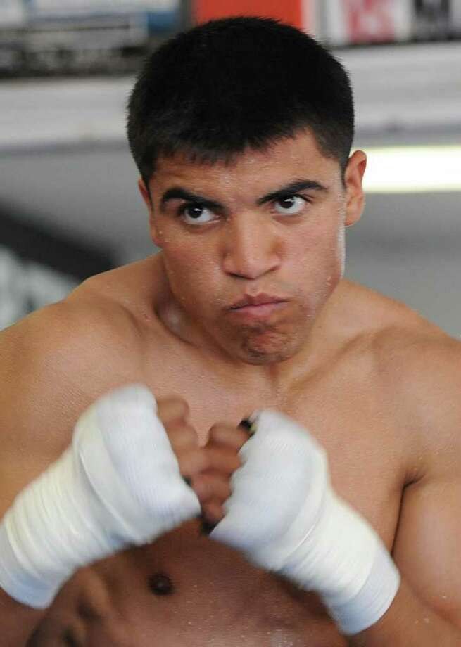 Victor Ortiz (above) will reportedly get a rematch ith Andre Berto sometime early next year. Photo: AFP/Getty Images
