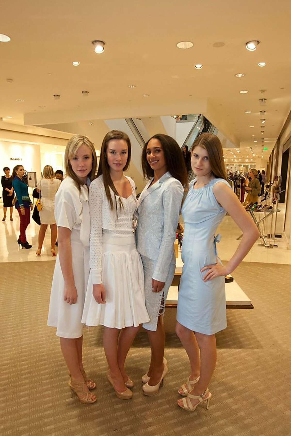 Images from Altuzarra event at Neiman Marcus. Models wearing Joseph Altuzarra