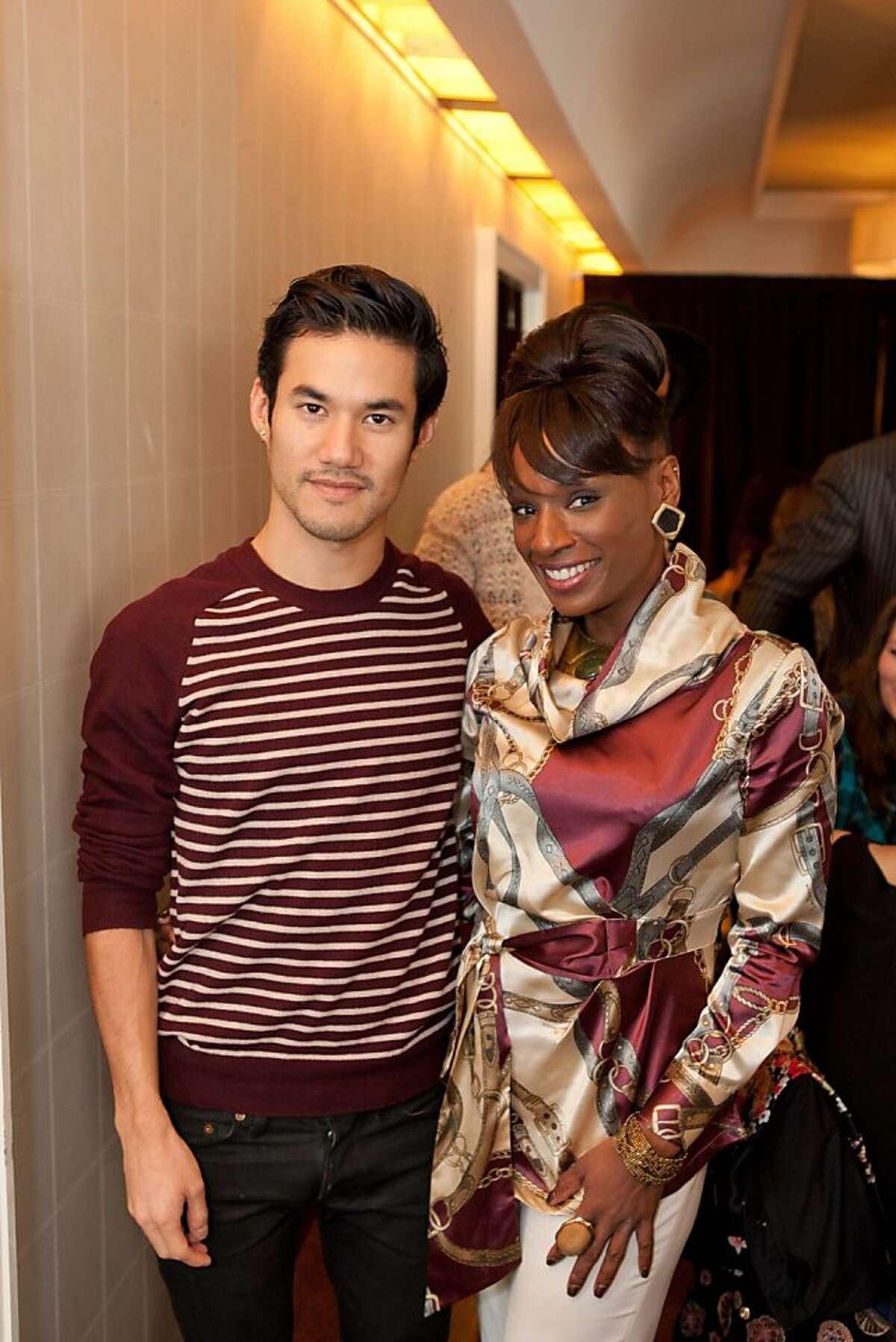 Designer Joseph Altuzarra with Pernella Sommerville at the event at Neiman Marcus