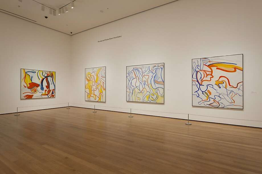 Installation view of late paintings by Willem de Kooning from the Museum of Modern Art's 2011 retrospective Photo: Unknown, Museum Of Modern Art, Nyc