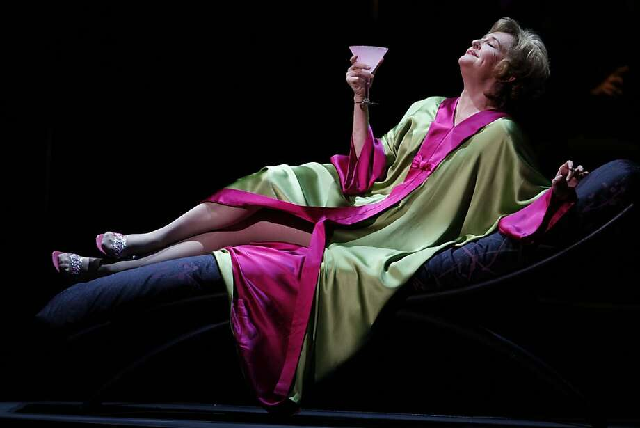 """Frederica von Stade plays Madeline Mitchell during a dress rehearsal of """"Three Decembers,"""" a new opera by Jake Heggie performed at Zellerbach Hall, UC Berkeley on December 9, 2008.  Ran on: 12-13-2008 Frederica von Stade plays the diva mom in &quo;Three Decembers.&quo; Photo: Michael Maloney, The Chronicle"""