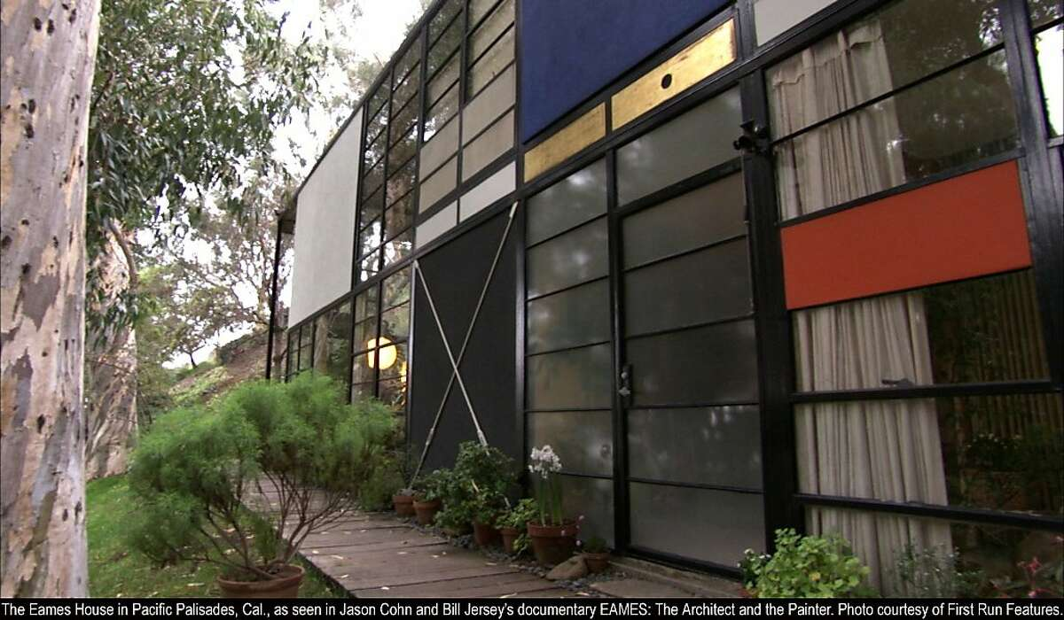 The Eames House in Pacific Palisades, CA, in EAMES: THE ARCHITECT & THE PAINTER The Eames House in Pacific Palisades, Cal., as seen in Jason Cohn and Bill Jersey's documentary EAMES: The Architect and the Painter. Photo courtesy of First Run Features.