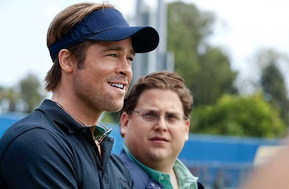 "Brad Pitt, left, and Jonah Hill star in Columbia Pictures'  drama ""Moneyball."" Photo: Melinda Sue Gordon, Sony Pictures"