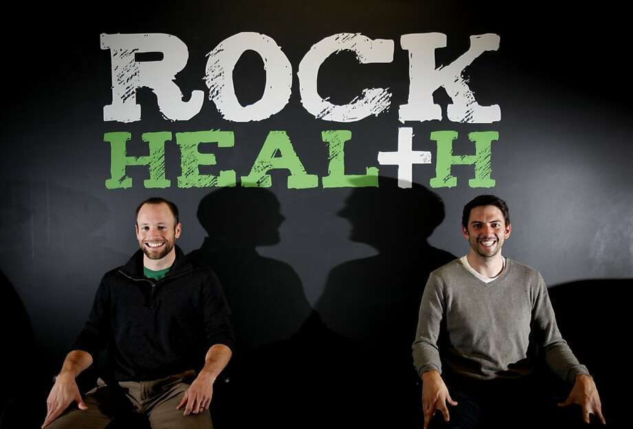 Omada Health co-founders Adrian James, left, and Sean Duffy at their current offices at RockHealth, a healthcare startup incubator in San Francisco, Calif., Tuesday, November 22, 2011. Photo: Sarah Rice, Special To The Chronicle