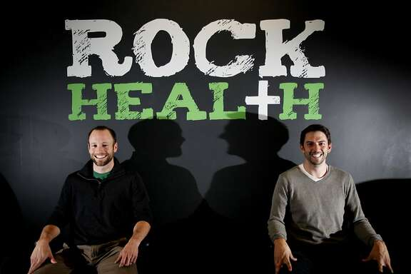 Omada Health co-founders Adrian James, left, and Sean Duffy at their current offices at RockHealth, a healthcare startup incubator in San Francisco, Calif., Tuesday, November 22, 2011.