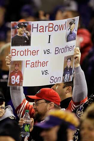 BALTIMORE, MD - NOVEMBER 24:  A San Francisco 49ers fan holds up a sign during their game against the Baltimore Ravens at M&T Bank Stadium on November 24, 2011 in Baltimore, Maryland.  (Photo by Rob Carr/Getty Images) Photo: Rob Carr, Getty Images