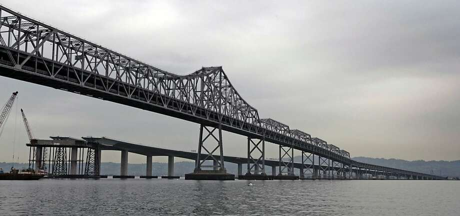 The new Skyway, which comprises much of the new East Span of the Bay Bridge, is a contrast in design when seen next to the old boxed steel design of the eastern span that was completed in 1936. Wed Jan 21, 2009 Photo: Lance Iversen, The Chronicle