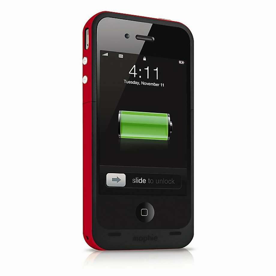 The Juice Pack Plus boosts the battery of the iPhone 4. Photo: Mophie.com