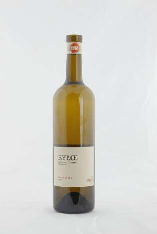 "Ryme ""His"" Vermentino as seen in San Francisco, California, on Tuesday, November 22, 2011.   Ran on: 11-27-2011 Photo caption Dummy text goes here. Dummy text goes here. Dummy text goes here. Dummy text goes here. Dummy text goes here. Dummy text goes here. Dummy text goes here. Dummy text goes here.###Photo: GIFTGUIDE27_his_ph1321660800SFC2010 Ryme Cellars His-Hers Las Brisas Vineyard Carneros Vermentino Photo: Craig Lee, Special To The Chronicle"