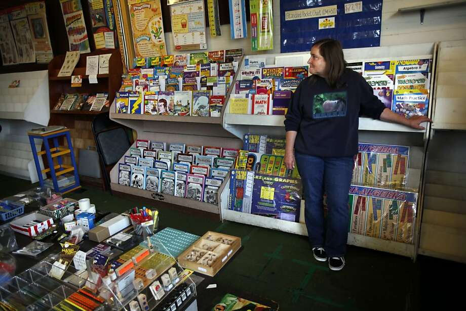 Carolynn Ghiorso and her husband Mike have owned Educational Exchange, a teacher supply store in Richmond, for the past 34 years.  They will be closing the store at the end of November.  Ghiorso mans the shop during their 50% off sale in San Francisco, Calif., Friday, November 18, 2011. Photo: Sarah Rice, Special To The Chronicle