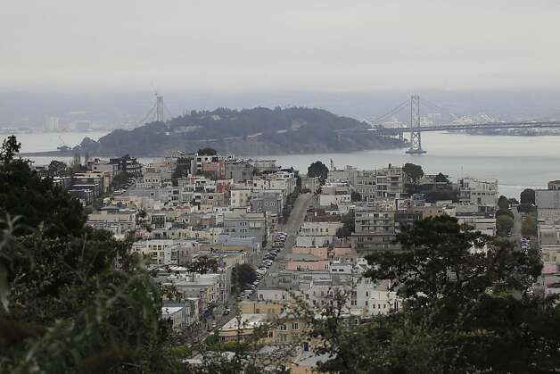 One of the best views in San Francisco seen from Russian Hill Place  on Friday, November 25, 2011 in San Francisco, Calif. Photo: Lea Suzuki, The Chronicle