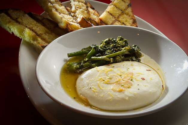 The pulled-to-order Mozzarella at Cupola Restaurant in San Francisco, Calif., is seen on November 16th, 2011. Photo: John Storey