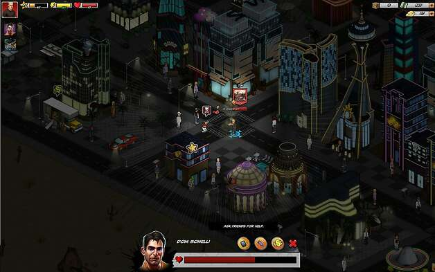 Screenshot of Zynga's newest game, Mafia Wars 2, a sequel to Mafia Wars but drawn in a graphic novel style.   Ran on: 10-10-2011 &quo;Mafia Wars 2,&quo; set in Las Vegas, is drawn in graphic novel style, and users create their own mob empires. Photo: Zynga, Zynga.com