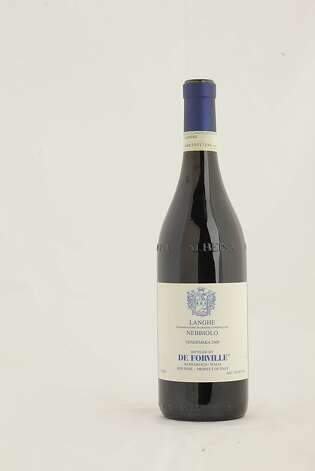 De Forville Nebbiolo as seen in San Francisco, California, on Wednesday, November 16, 2011.   Ran on: 11-27-2011 Photo caption Dummy text goes here. Dummy text goes here. Dummy text goes here. Dummy text goes here. Dummy text goes here. Dummy text goes here. Dummy text goes here. Dummy text goes here.###Photo: GIFTGUIDE27_forville_ph1321228800SFC###Live Caption:2009 De Forville Langhe Nebbiolo###Caption History:De Forville Nebbiolo as seen in San Francisco, California, on Wednesday, November 16, 2011.###Notes:###Special Instructions: Photo: Craig Lee, Special To The Chronicle