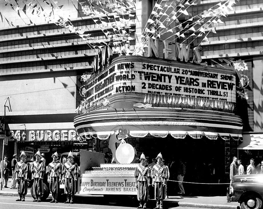 The Telenews Theater was a popular destination on Market Street, back when the area was filled with movie theaters. Sept. 30, 1959 Photo: Stan Creighton, Special To The Chronicle