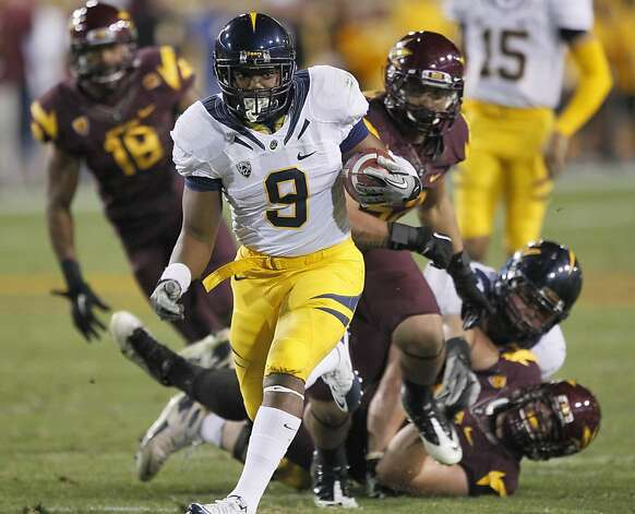 California running back C.J. Anderson (9) breaks free against Arizona State during the first half of an NCAA college football game Friday, Nov. 25, 2011, in Temp, Ariz. (AP Photo/Matt York)   Ran on: 11-26-2011 The Bears' C.J. Anderson ran for 48 yards and two touchdowns. He added a 74-yard TD reception. Ran on: 11-26-2011 The Bears' C.J. Anderson ran for 48 yards and two touchdowns. He added a 74-yard TD reception. Photo: Matt York, AP