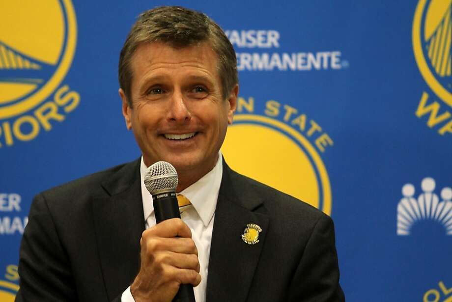 The Warriors new President and COO Rick Welts answers a question during a news conference at the Warriors practice facility in Oakland, Calif. Photo: Mathew Sumner, Special To The Chronicle