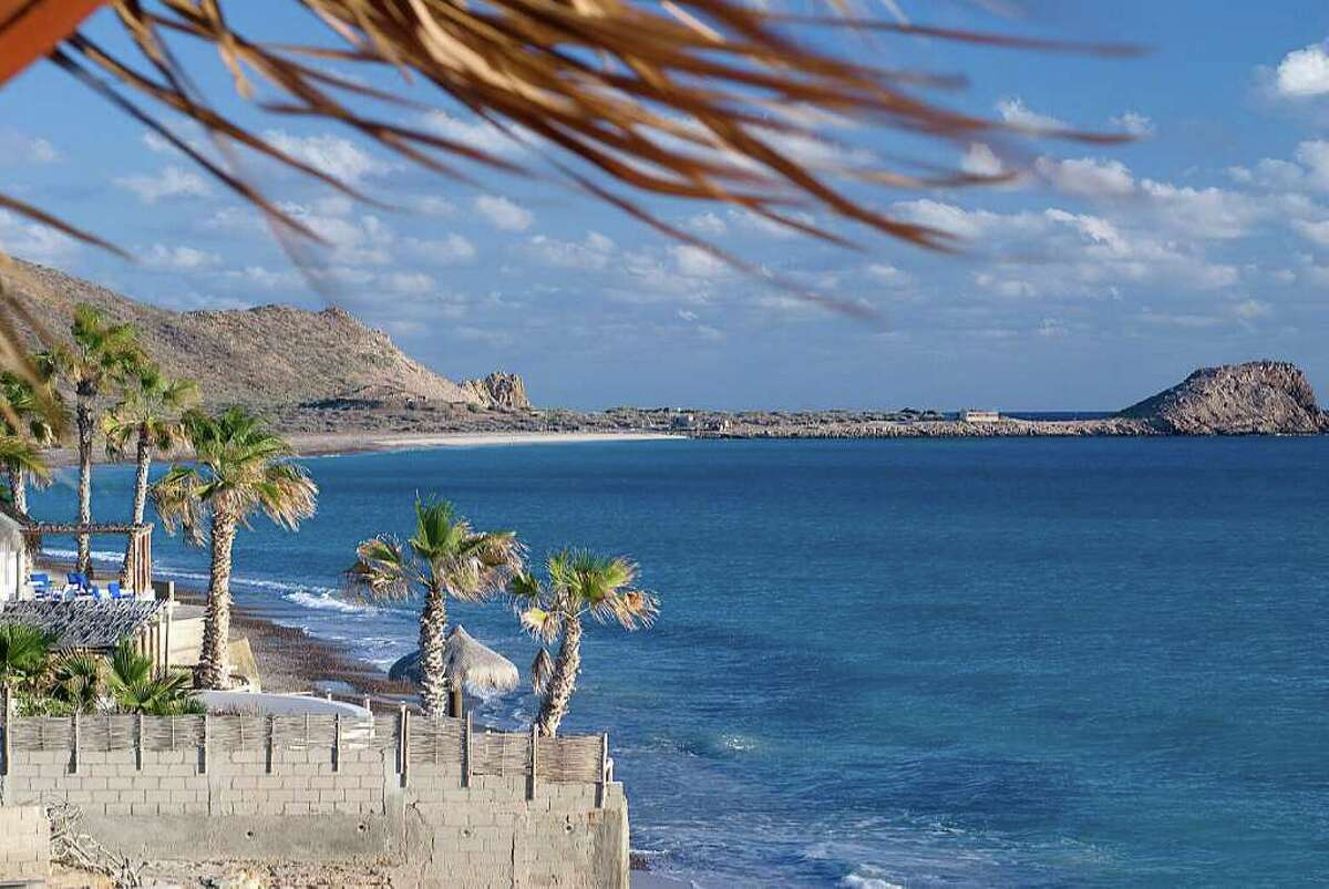 Cabo Pulmo, Baja California Sur, Mexico, one-time fishing village on the Sea of Cortez, now sustained by ecotourism, is battling efforts to build a Cancun-style mega-resort a short distance up the coast from a unique coral reef, protected by the community. A view of the beachfront at Cabo Pulmo early in the morning.