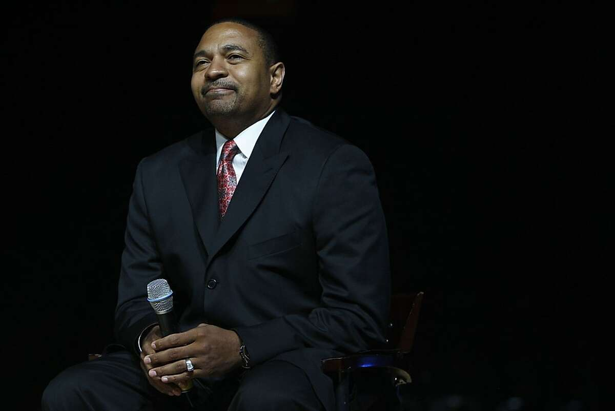 The Warriors host an event for season ticket holders with Warrior executives such as head coach Mark Jackson at the Oracle Arena in Oakland , Calif., on Wednesday, September 14, 2011.