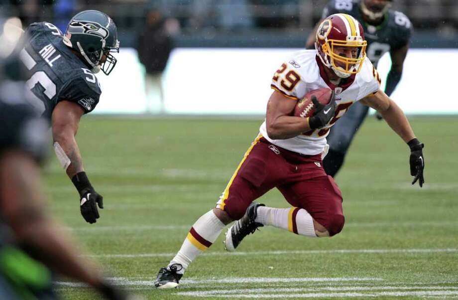 Washington Redskins Roy Helu runs downfield in the first half of an NFL football game against the Seattle Seahawks, Sunday, Nov. 27, 2011, in Seattle. Photo: AP