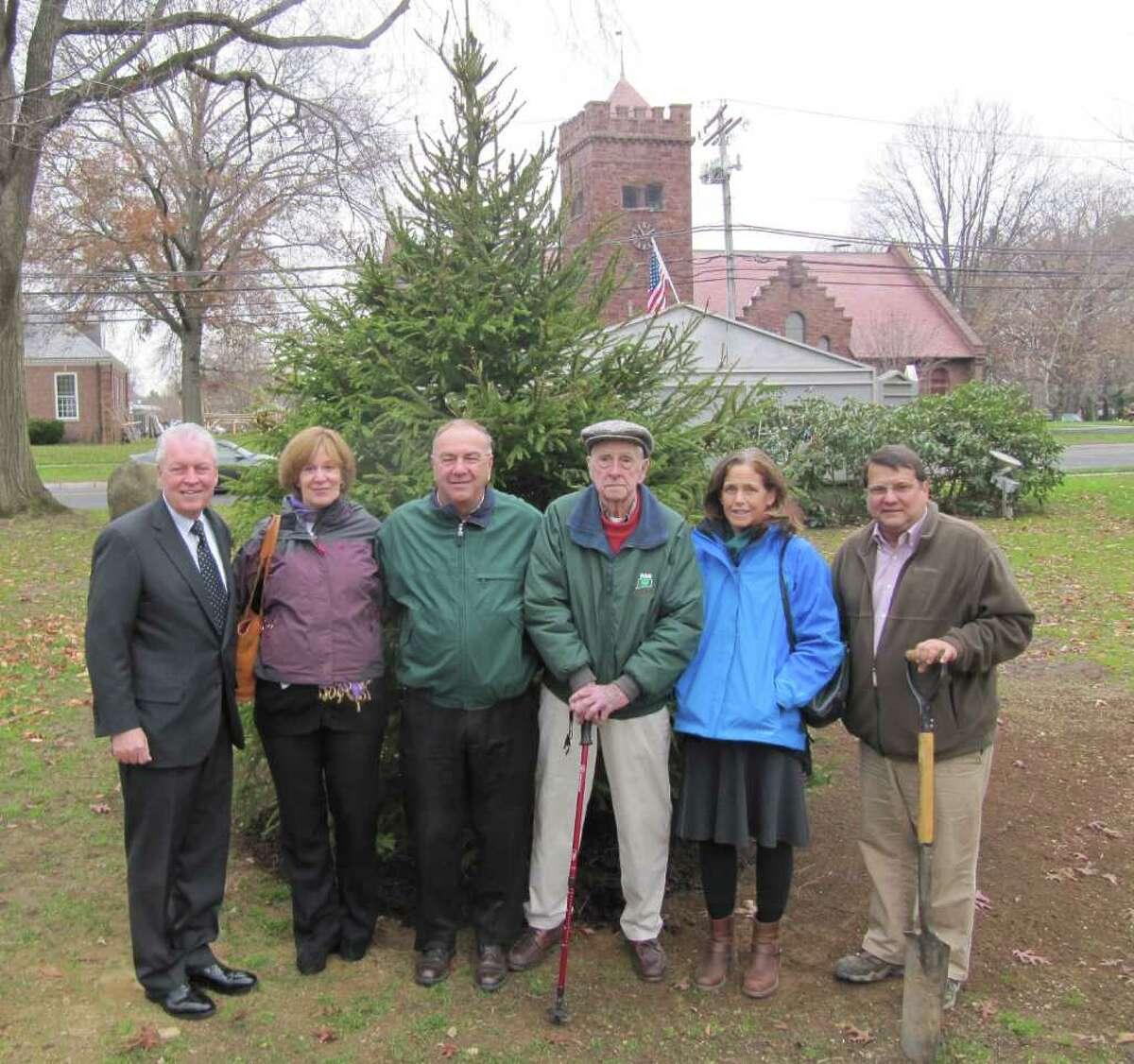 Fairfield Tree Warden Ken Placko (far right) gladly accepted a