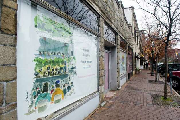 Vacant shops along Bedford Street in Stamford, Conn., November 22, 2011. Photo: Keelin Daly