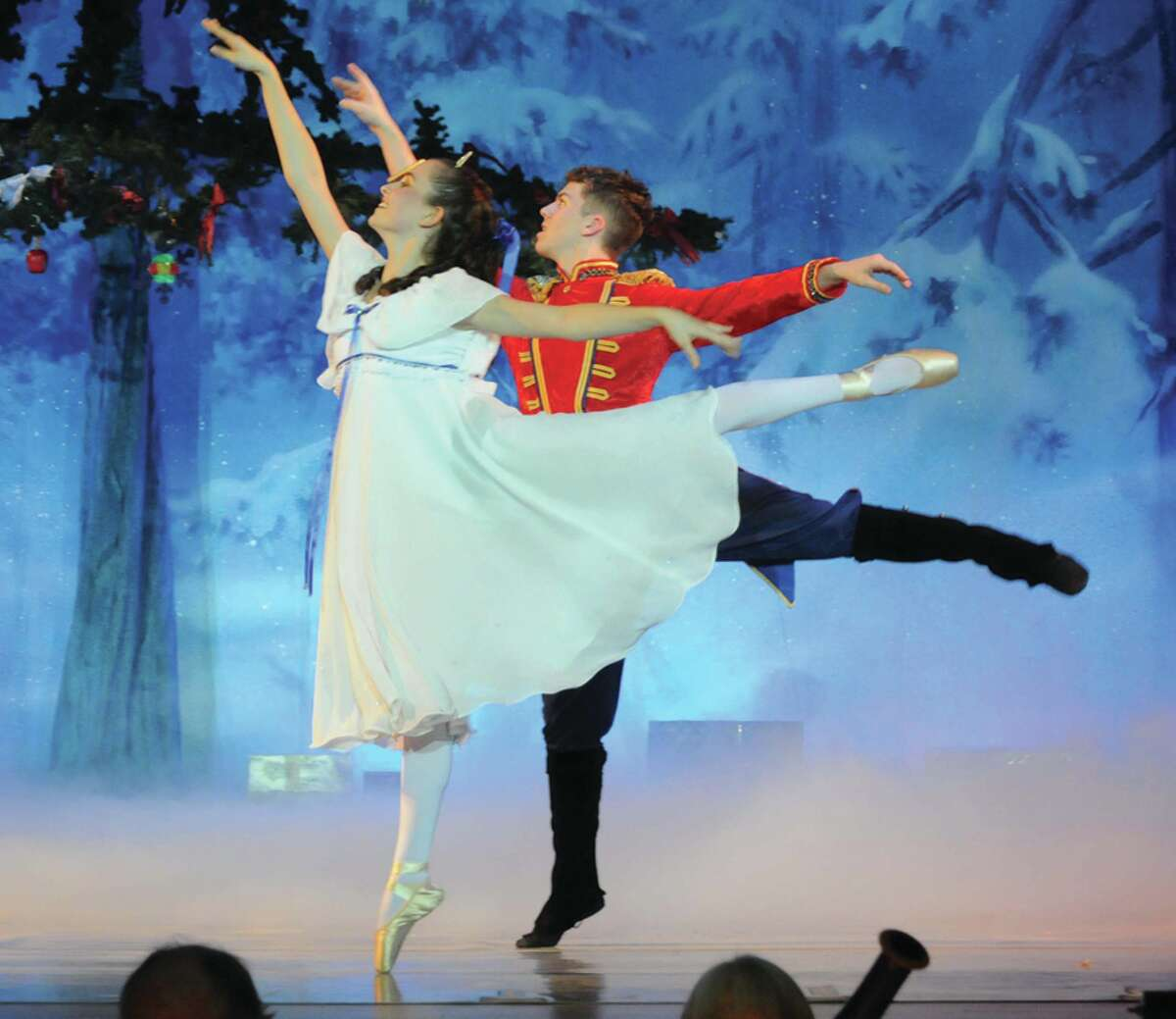 Clara, played by Kaitlin Lipner, and the Prince, played by Ryan Bulson, perform a routine together during a dress rehearsal of the