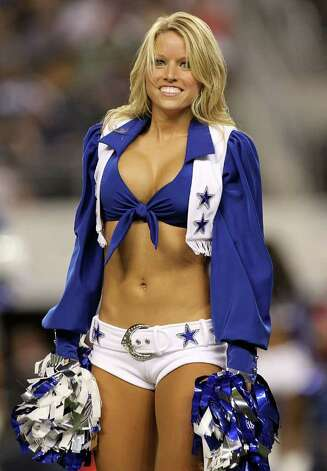 ARLINGTON, TX - AUGUST 21:  A Dallas Cowboys Cheerleader performs at Cowboys Stadium on August 21, 2011 in Arlington, Texas. Photo: Ronald Martinez, Getty Images / 2011 Getty Images