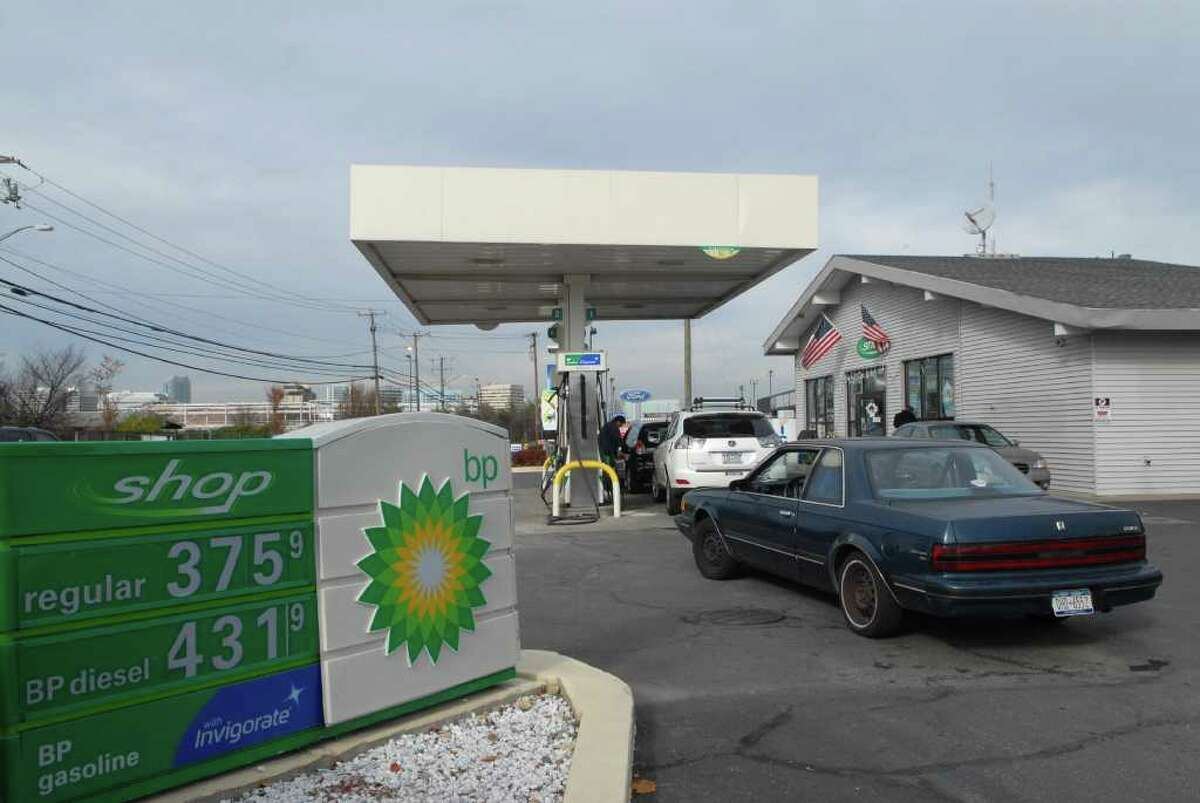 The Shippan Point BP in Stamford, Conn. on Monday November 28, 2011 is where the winning Powerball ticket for $245 million dollars was sold.