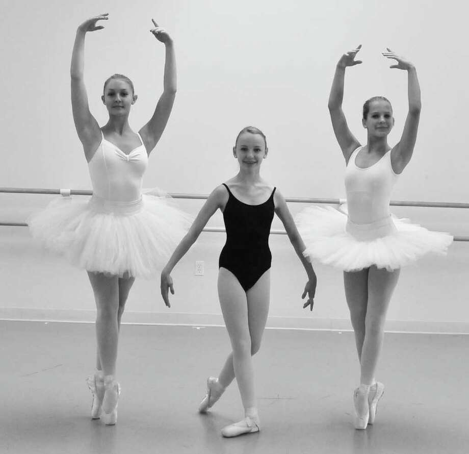 Ballet Etudes Nutcracker dancers Lauren Stewart, Eliza Davenport and Haley Michno. Photo: Contributed Photo
