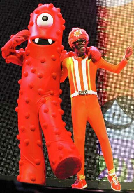 "DJ Lance Rock and his cyclops friend Muno are among the stars of ""Yo Gabba Gabba! Live!"" Photo: COURTESY PHOTO"
