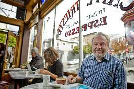 Gerry Nicosia in the historic Caffe Trieste in North Beach in San Francisco, Calif. on Friday Nov. 11, 2011.