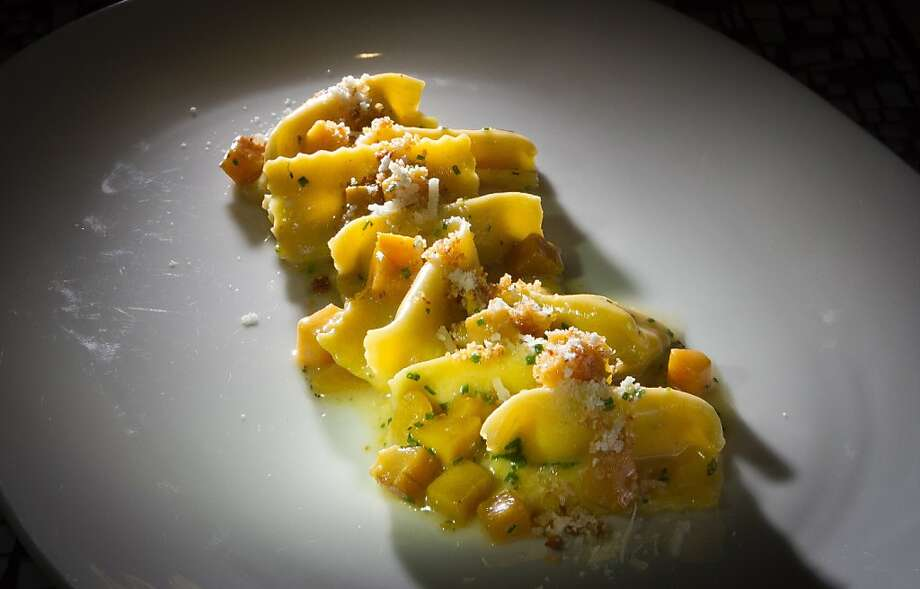 The Ricotta Agnolotti being plated at Trace Restaurant in San Francisco, Calif., is seen on Friday, November 4,  2011. Photo: John Storey, Special To The Chronicle