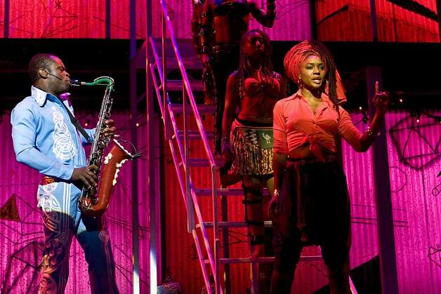 "Sahr Ngaujah and Saycon Sengbloh in ""Fela!"" coming to San Francisco in November 2011. Photo: Monique Carboni"