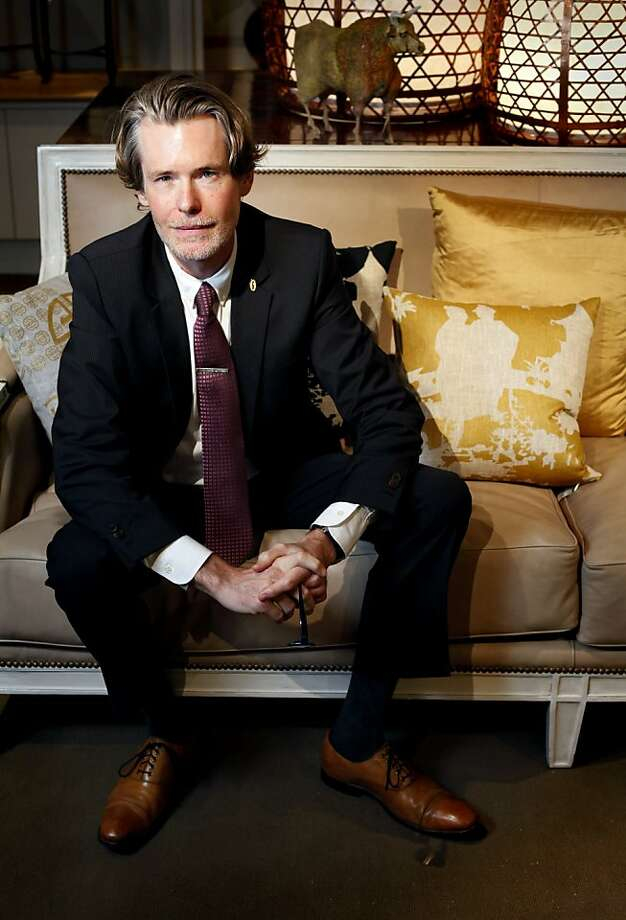 Jon Leafstedt, the vice president of Gump's department store, is photographed in the store in San Francisco, Calif., Monday, October 10, 2011. Photo: Sarah Rice, Special To The Chronicle