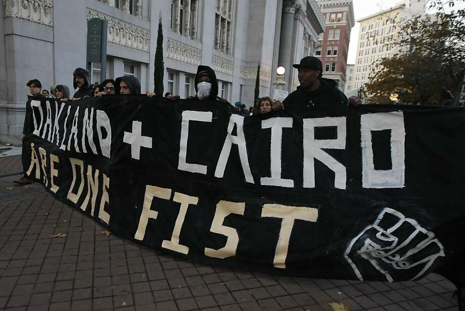 Occupy Oakland protestors march in solidarity with Egypt in downtown Oakland, Calif., on Saturday, Nov. 12, 2011. Photo: Dylan Entelis, The Chronicle