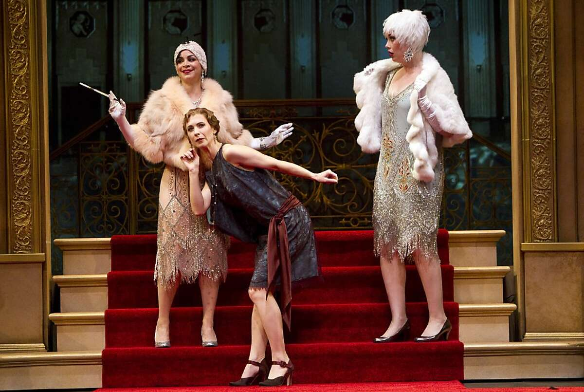 """Marisa Duchowny, Julia Coffey and Jessica Kitchens (left to right) perform their parts during a dress rehearsal for American Conservatory Theater's season opener """"Once in a Lifetime"""" in San Francisco, Calif., on Wednesday, September 21, 2011."""