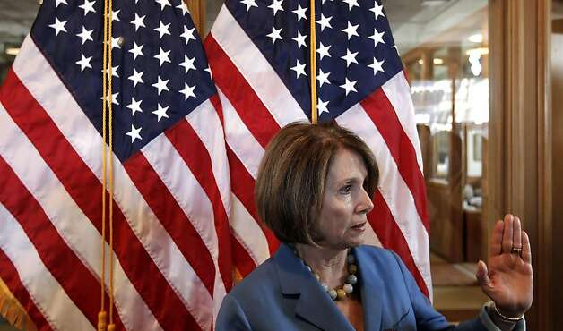 "Democratic Leader Nancy Pelosi speaks to the media following her roundtable discussions. Pelosi, held a roundtable with local manufacturers, at the Anchor Steam Brewery, in San Francisco, Ca., on Thursday September 29, 2011, to discuss the House Democrats' ""Make It In America"" initiative, President Obama's American Jobs Act, and how Congress can best help small businesses grow and hire. Photo: Michael Macor, The Chronicle"