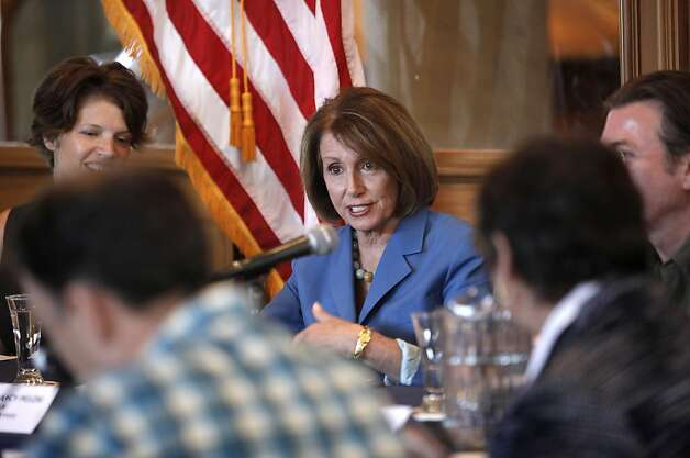 "Democratic Leader Nancy Pelosi holds a roundtable with local manufacturers, at the Anchor Steam Brewing Co., in San Francisco, Ca., on Thursday September 29, 2011, to discuss the House Democrats' ""Make It In America"" initiative, President Obama's American Jobs Act, and how Congress can best help small businesses grow and hire. Photo: Michael Macor, The Chronicle"