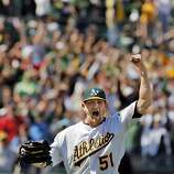 Dallas Braden reacts to the last out in a game against the Tampa Bay Rays in which he pitched a perfect game, the 19th in MLB history. The Oakland Athletics played the Tampa Bay Rays at the Oakland Alameda County Coliseum in Oakland, Calif., on Sunday, May 9, 2010.  Ran on: 05-10-2010 Photo caption Dummy text goes here. Dummy text goes here. Dummy text goes here. Dummy text goes here. Dummy text goes here. Dummy text goes here. Dummy text goes here. Dummy text goes here.###Photo: as10_braden_MAINPH1273276800SFC###Live Caption:Dallas Braden reacts to the last out in a game against the Tampa Bay Rays in which he pitched a perfect game, the 19th in MLB history. The Oakland Athletics played the Tampa Bay Rays at the Oakland Alameda County Coliseum in Oakland, Calif., on Sunday, May 9, 2010.###Caption History:Dallas Braden reacts to the last out in a game against the Tampa Bay Rays in which he pitched a perfect game, the 19th in MLB history. The Oakland Athletics played the Tampa Bay Rays at the Oakland Alameda County Coliseum in Oakland, Calif., on Sunday, May 9, 2010.###Notes:Notes, Contacts, Name CQ's here###Special Instructions:**MANDATORY CREDIT FOR PHOTOG AND SF CHRONICLE-NO SALES-MAGS OUT-TV OUT-INTERNET: AP MEMBER NEWSPAPERS ONLY** Ran on: 05-10-2010 Photo caption Dummy text goes here. Dummy text goes here. Dummy text goes here. Dummy text goes here. Dummy text goes here. Dummy text goes here. Dummy text goes here. Dummy text goes here.###Photo: as10_braden_MAINPH1273276800SFC###Live Caption:Dallas Braden reacts to the last out in a game against the Tampa Bay Rays in which he pitched a perfect game, the 19th in MLB history. The Oakland Athletics played the Tampa Bay Rays at the Oakland Alameda County Coliseum in Oakland, Calif., on Sunday, May 9, 2010.###Caption History:Dallas Braden reacts to the last out in