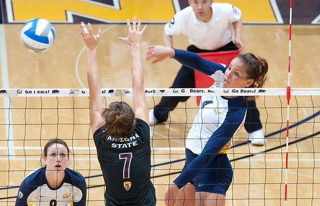 Tarah Murrey of Cal women's volleyball 2010. Photo: Golden Bear Sports