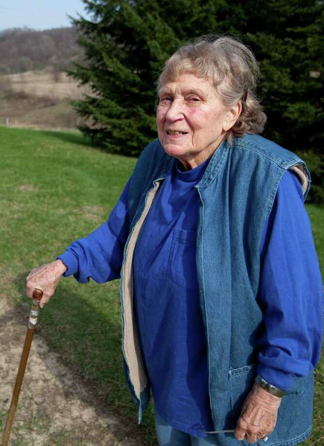 Lana Peters is photographed on a rural road outside of Richland Center, Wis., Tuesday, April 13, 2010. Peters, or  Svetlana Alliluyeva, daughter of the late Soviet dictator Josef Stalin, has died of colon cancer Nov. 22, 2011. She was 85. (AP Photo/Wisconsin State Journal, Steve Apps) Photo: Steve Apps / Wisconsin State Journal
